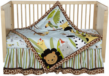 Lambs & Ivy Peek-A-Boo Jungle 5pc Crib Bedding Set