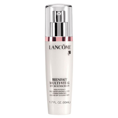 Lancôme Bienfait Multi-vital Lotion Day Cream 24-hour Moisturizing Lotion Antioxidant and Vitamin Enriched Broad Spectrum SPF 30 Sunscreen & Moisturizer