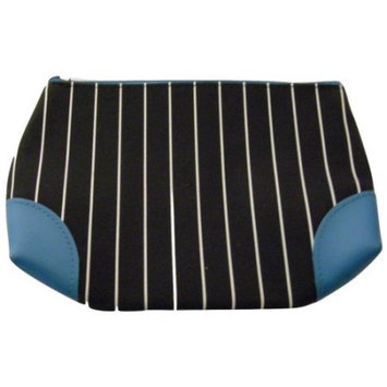 Lancôme Black and White with Blue Trim Cosmetic Makeup Travel Bag