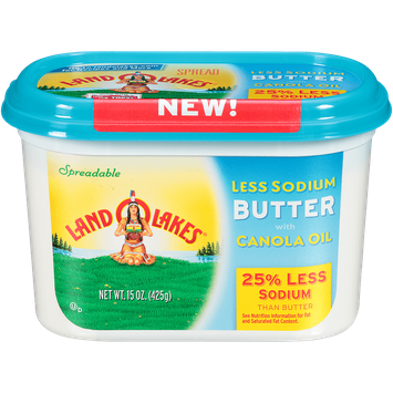 Land O'Lakes 25% Less Sodium Butter with Canola Oil