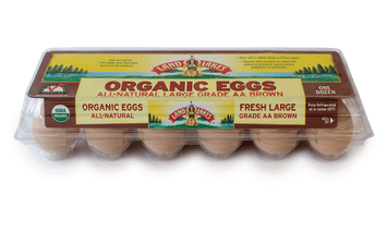 Land O'Lakes All Natural Large Grade AA Brown Organic Eggs