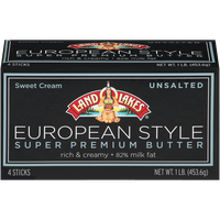 Land O'Lakes European Style Super Premium Sweet Cream Unsalted Butter