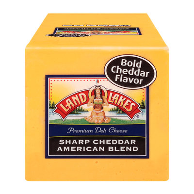 Land O'Lakes Premium Deli Cheese Sharp Cheddar American Blend