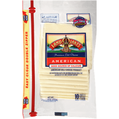 Land O'Lakes White Sliced American Cheese