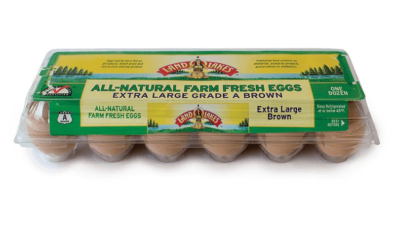 Land O'lakes All-natural Farm Fresh Eggs Extra Large Brown