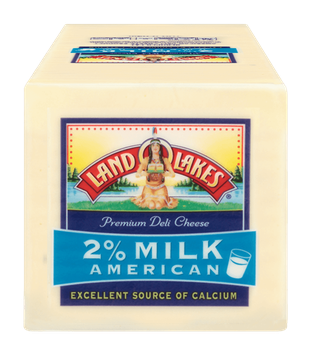 Land O'lakes Deli 2% Milk American White Cheese