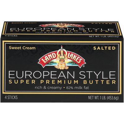 Land O'lakes European Style Super Premium Sweet Cream Salted Butter