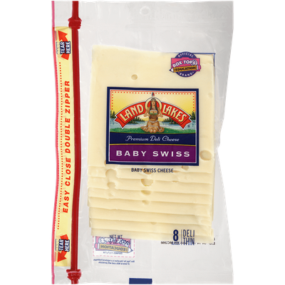 Land O'lakes Premium Deli Sliced Baby Swiss Cheese