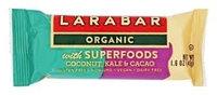LARABAR® Organic with Superfoods Coconut Kale & Cacao Bars Fruit & Nut