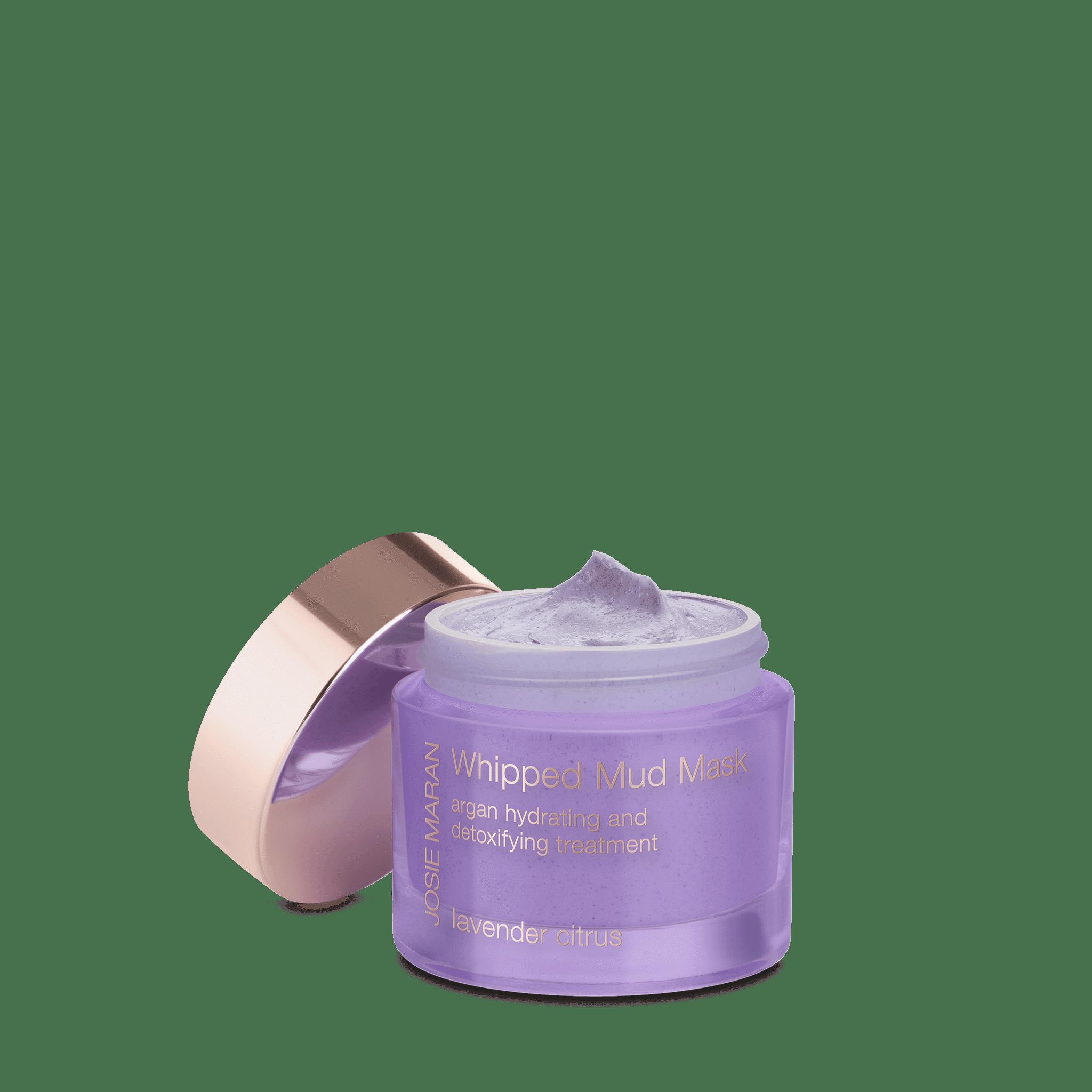 Josie Maran Whipped Mud Mask Argan Hydrating and Detoxifying Treatment Lavender Citrus