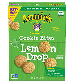 Annie's ® Homegrown Organic Lemon Drop Cookie Bites