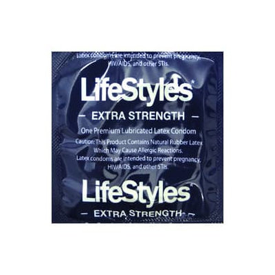 LifeStyles Extra Strength Lubricated Condoms