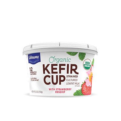 Lifeway Strawberry Rosehip Organic Kefir Cup