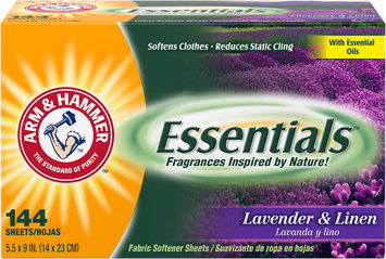ARM & HAMMER™ Essentials™ Fabric Softener Sheets Lavender & Linen