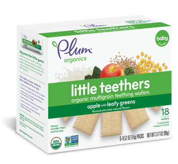 Plum Organics Little Teethers Apple With Leafy Greens
