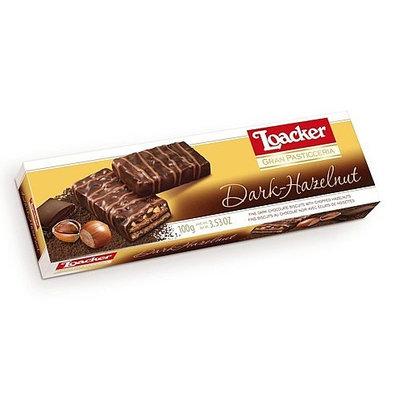 Loacker Gran Pasticceria Patisserie Dark Hazelnut Chocolate Wafer