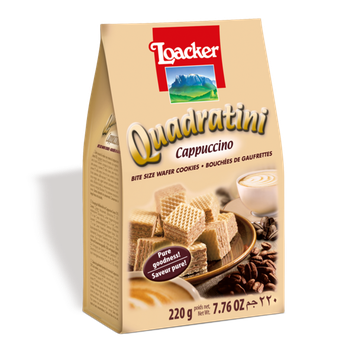 Loacker Quadratini Cappuccino Wafer
