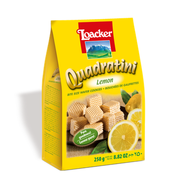 Loacker Quadratini Lemon Wafer