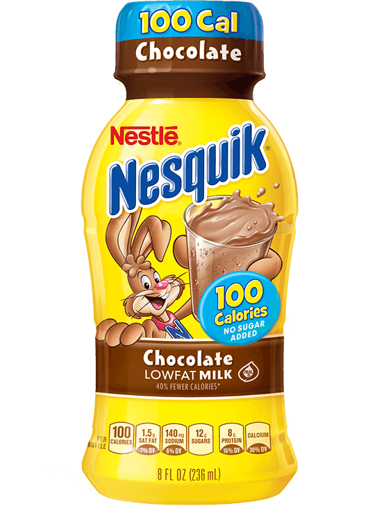 Nesquik® No Sugar Added Chocolate Ready-to-Drink Low Fat Milk
