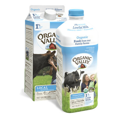 Organic Valley® Lowfat 1% Milk, Pasteurized