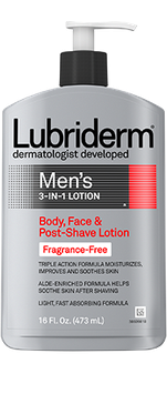 Lubriderm Fragrance Free 3 in 1 Body Face and Post Shave Lotion
