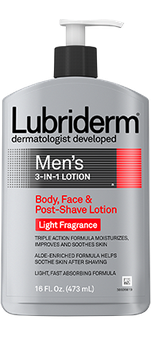 Lubriderm Light Fragrance Free 3 in 1 Body Face and Post Shave Lotion