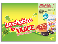 Lunchables with 100% Juice Deep Dish Pizza with Pepperoni
