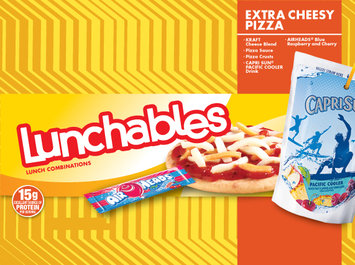 Lunchables Extra Cheesy Pizza with Airheads and Capri Sun