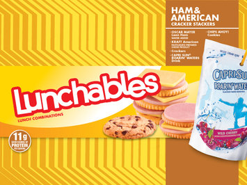 Lunchables Ham & American Cracker Stackers with Capri Sun and Chips Ahoy!