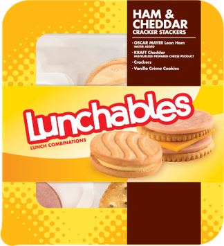 Lunchables Ham & Cheddar Cracker Stackers