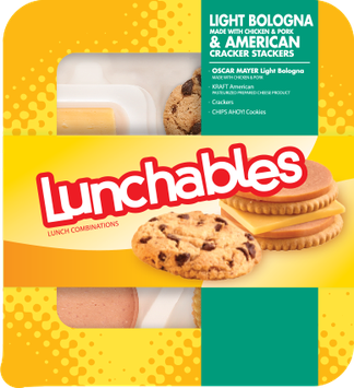 Lunchables Light Bologna & American Cracker Stackers