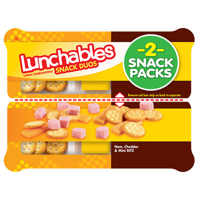 Lunchables Snack Duos Ham, Cheddar & Mini Ritz