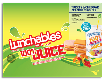 Lunchables With 100% Juice Turkey & Cheddar Cracker Stackers