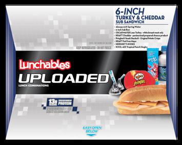 Lunchables Uploaded 6-inch Turkey & Cheddar Sub Sandwich
