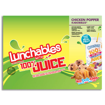 Lunchables with 100% Juice Oscar Mayer Chicken Popper Kabobbles