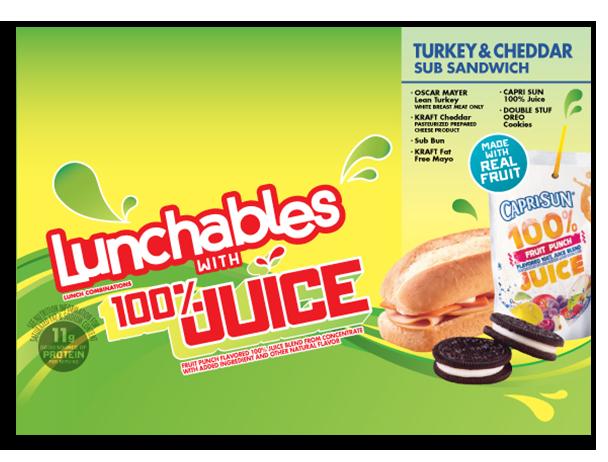 Lunchables 100 juice