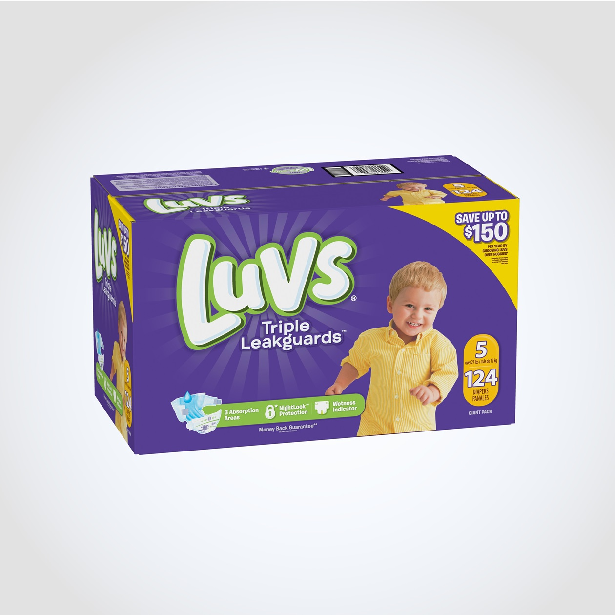 Luvs Ultra Leakguard with Nightlock™ Plus Size 5 Diapers