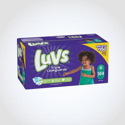 Luvs Ultra Leakguard with Nightlock™ Plus Size 6 Diapers
