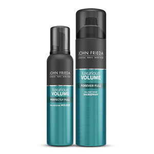 The NEW John Frieda® Luxurious Volume™  Mousse and Hairspray
