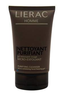 LIERAC HOMME Nettoyant Purificant Purifying Cleanser Foaming Gel 3.6oz