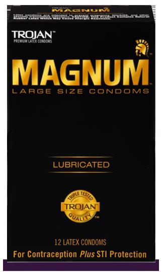 TROJAN™ MAGNUM™ Large Lubricated Condoms
