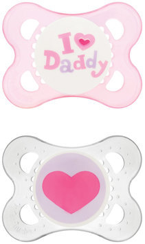 MAM Love & Affection Silicone - Daddy - Girl - 0-6 Months - 2 Pk
