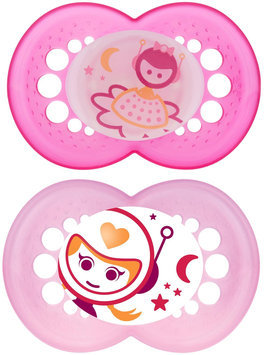 MAM Night Silicone Pacifier - Girl - 6+ Months