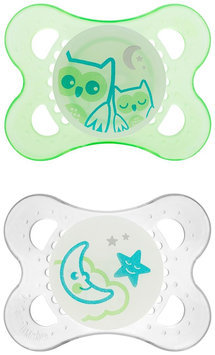MAM Night Silicone Pacifier - Green - 0-6 months