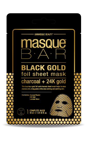 MASQUE BAR Black Gold Foil Sheet Mask