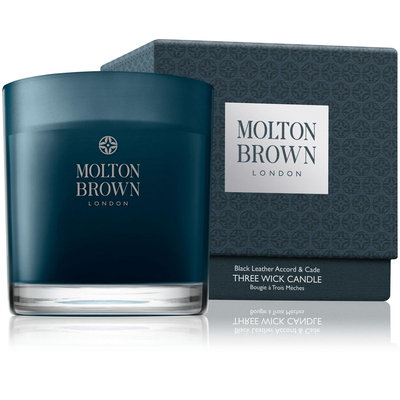 Molton Brown Black Leather Accord & Cade Single Wick Candle
