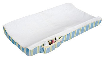 Munchkin Fashion Diaper Changer Cover - Blue and Green Stripes