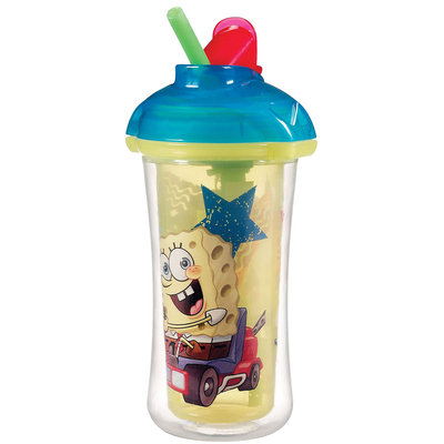 Munchkin Click Lock Insulated Straw Cup - SpongeBob SquarePants - 9 oz