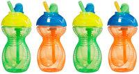 Munchkin Flip Straw Cup - 4pk - Orange/Green