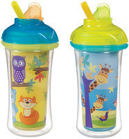 Munchkin Click Lock Insulated Straw Cup - Giraffe/Forest - 9 oz - 2 ct